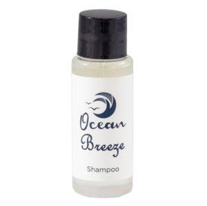 ocean breeze, shampoo toiletry, 30ml toiletry, shampoo