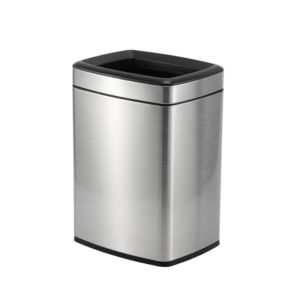 Bedroom Double Layers Bin 8 Litres – Chrome,Hotel Supplies Ireland,Hotel Bins,Chrome Bins