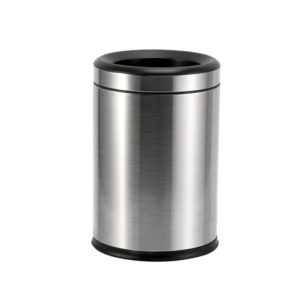 Double Layers Round Chrome Bin 8Litre.Hotel Supplies Ireland,High Quality Brushed Stainless Steel. Removable inner bucket. Ideal for B&B's,Hotels,Inn's&Guesthouses,