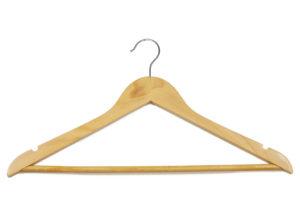 Light wood hanger